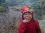A little girl and boy followed us high up into the mountains and played as we filmed.